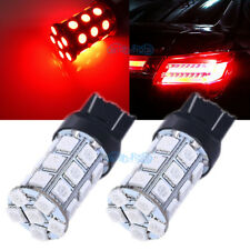 2Pcs 7443 7440 Red 27-LED 5050SMD For Brake Tail Stop Light Bulbs Lamps