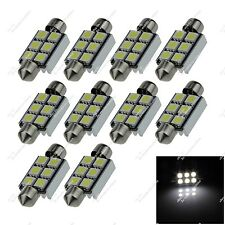 10X White Festoon 36MM 6 SMD 5050 LED Interior Light Canbus Error Free Car ZI122
