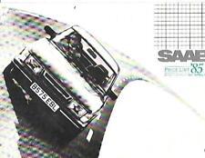 SAAB 90, 900i, 900 TURBO,900 TURBO16 & 16S MODELS PRICE LIST BROCHURE APRIL 1985