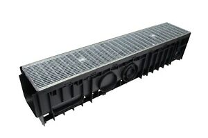 SAB Galvanised Heel Guard Stormwater Driveway Grated Drain Channel 150x150x1000
