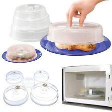5 cubiertas de microondas plato de comida ventilada Cubierta De Protección Salpicaduras De Ventilación 115-225mm