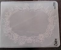 Sizzix Large Embossing Folder FLOWERS #9 FLOWER fits Cuttlebug 4.5x5.75in