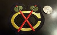 "Chicago Blackhawks Vintage Embroidered Iron On Patch 3.5"" x 3"" Nice NHL"