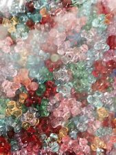 ASSORTED PLASTIC STARFLAKE AND TRI-BEADS 1.5 POUNDS 0.5mm