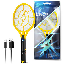 More details for bug zapper racket fly killer electric bat wasp mosquito insect pest swatter usb