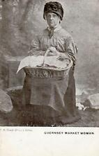 Guernsey Market Woman pc used 1904 T B Banks& Co