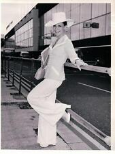 stylish Claire Bloom at Heathrow airport on way to Cannes - May 1973 news photo