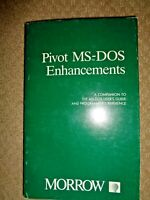 Pivot MS-DOS Enhancements USER'S GUIDE Programmer's Reference Morrow Computer