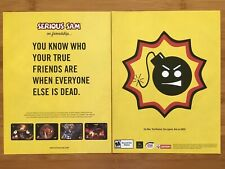 Serious Sam PC PS2 Playstation 2 Xbox 2002 Poster Ad Print Art Funny Classic