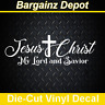 Vinyl Decal.. JESUS CHRIST MY LORD AND SAVIOR.. Christian Religious Car Sticker