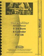 Caterpillar Engine 5 3/4 x 6 cyl. suit D8 8R1 workshop manual p/copy