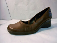 Aldo Brown Leather Mary Jane Wedge Casual Shoes Women's Size 6.5 / 37 Eu