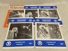 Vancouver Burrards Lacrosse Programs Schedules 1971 1972 Lot of 5