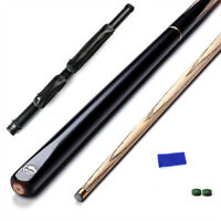 ASH Hardwood 57 inch Snooker Cues 3/4 Joint 10mm Tips 19 oz Cue and Case Set