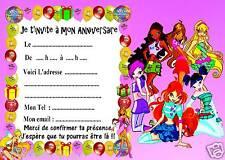 5 cartes invitation anniversaire Winx 02  d'autres en vente