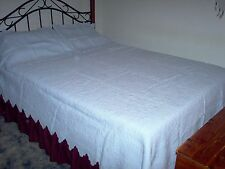 King/Queen Blue Trapunto Quilted Montecito Quilt+King Shams 92x106