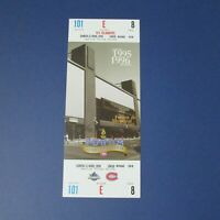 1995-96  MONTREAL FORUM  photo Ticket 1968  Canadiens vs New York Islanders 1996