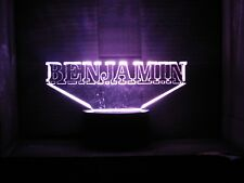 """A Beautiful """"Custom Made"""" LED Night Light with an Acrylic Name or Word"""