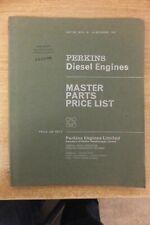 perkins diesel engines 1965 master parts price list book vintage tractor plant