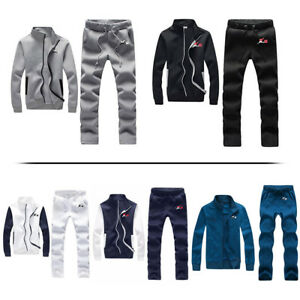 X-2 Mens Fleece Full Tracksuit Jogging Running Gym Bottoms Sweatsuit Top Joggers