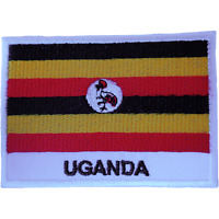 Uganda Flag Patch Iron Sew On Clothes Jacket Jeans Bag Africa Embroidered Badge