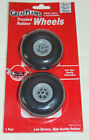 """Great Planes pair of 2 1/2"""" Treaded Rubber Low Bounce wheels. NEW"""