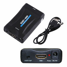 SCART to HDMI Adapter Converter with Audio Video Composite for TV DVD SkyBox UK