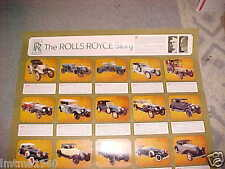 OLD 1904 to 1971 Rolls Royce Poster Silver Shadow Phantom I - made in USA 1970