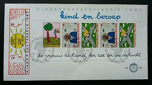 Holland Children's Drawing 1987 Painting Art Netherlands (miniature FDC)