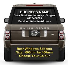 CAR Rear Window Stickers Advertising Vinyl Car Lettering Graphics Decals design