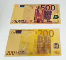 More details for set of 7 euro gold banknotes - 24k gold coa - great collection!