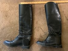Equestrian horse English riding boots womens 8R The Effingham Tall Black Boots