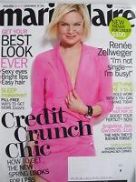 RENEE ZELLWEGER  February 2009 MARIE CLAIRE Magazine