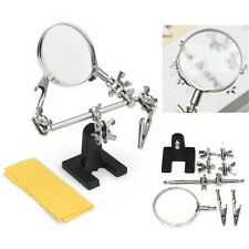 5X Clamp Third Hand Soldering Solder Iron Stand Holder Helping Magnifier Tool