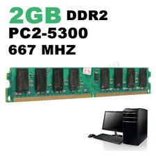 2GB DDR2 PC2-5300 5300U DDR2-667 MHZ MEMORY DIMM PC DESKTOP RAM 240 PIN FOR