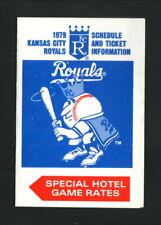 Kansas City Royals--1979 Pocket Schedule--Ramada Inn