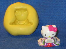 Hello Kitty Geisha Mold Flexible Resin Clay Candy Food Safe Silicone #633