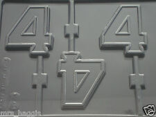 NUMBER 4 No 4 CHOCOLATE LOLLIPOP LOLLY MOULD MOLD 3 ON 1
