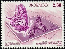 """MONACO N° 1587 """"EXPOSITION OETP, PAPILLON ET TIMBRE POSTE 2 F 50"""" xxTTB"""