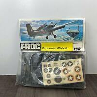 Vintage FROG Grumman Wildcat 1/72 Scale Model Kit Rare F242F 1973