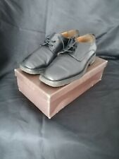 BALLY BLACK LEATHER LACE UP SHOES SIZE 6 USED - BOXED