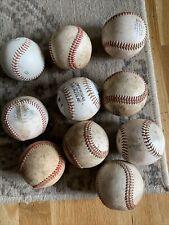 10 USED BASEBALLS Baseball Lot Mixed Leather And Synthetic