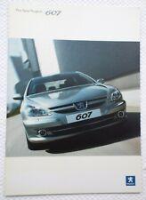 Peugeot 607 2005 UK Market Car Sales Brochure
