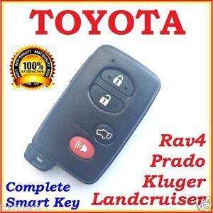 FOR TOYOTA SMART KEY LANDCRUISER / PRADO / KLUGER / RAV4 - 4 BUTTON