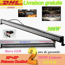 "300W Rampe Barre LED 54"" Combo 28500LM Phare De Travail SUV VTT Road Voiture 12V"