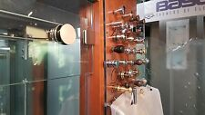 SHOWER & TUB DOOR SINGLE SIDE / TRANSOM KNOBS & FINGER PULL 27 CHOICES 3 COLORS