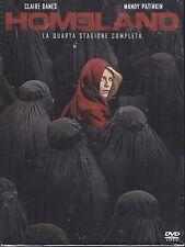 4 Dvd Box Cofanetto «HOMELAND ♦ QUARTA STAGIONE QUATTRO 4» nuovo 2014