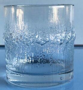 Vintage 1970sIittala Niva Crystal Glasses Tapio Wirkkala FINLAND X 4 glasses