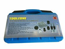 13 Piece Alternator Free Wheel Pulley Removal Car Garage Tool Bit Kit Bosch Type