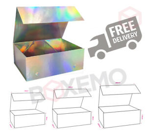 Holographic Magnetic Gift Boxes, Box for Hampers, Birthdays, Gifts, Rainbow Box